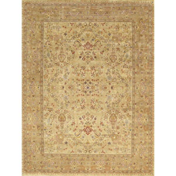 Hand-Knotted Wool Brown/Green Rug