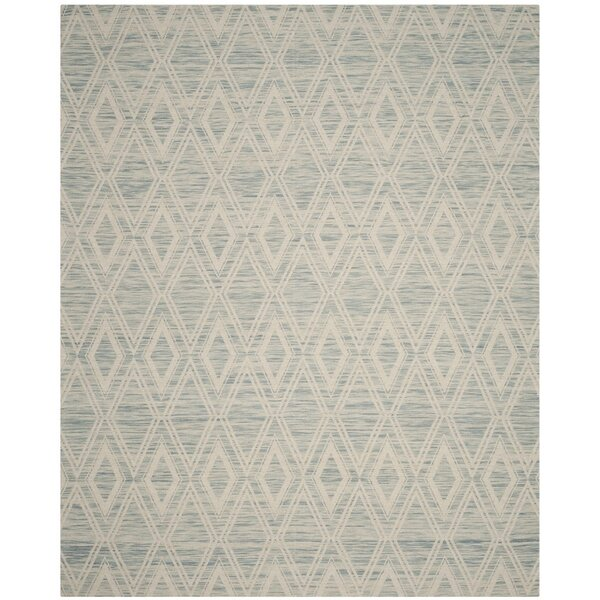 Alexandria Hand-Woven Light Blue/Ivory Area Rug by Langley Street