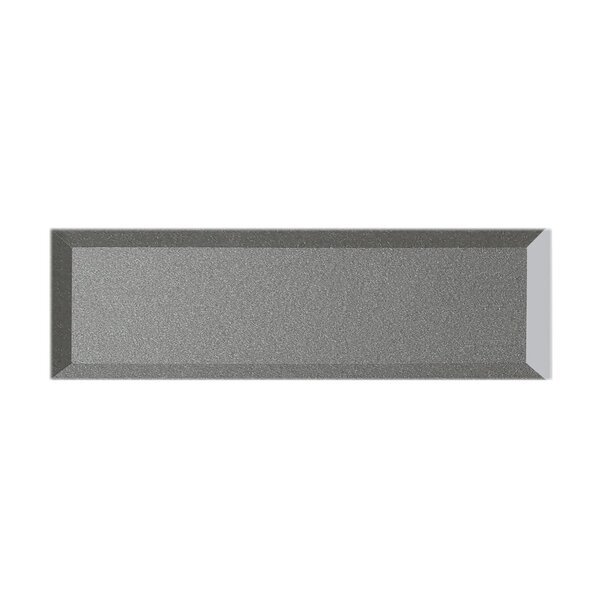 Secret Dimensions 3 x 12 Glass Subway Tile in Glossy Gray by Abolos