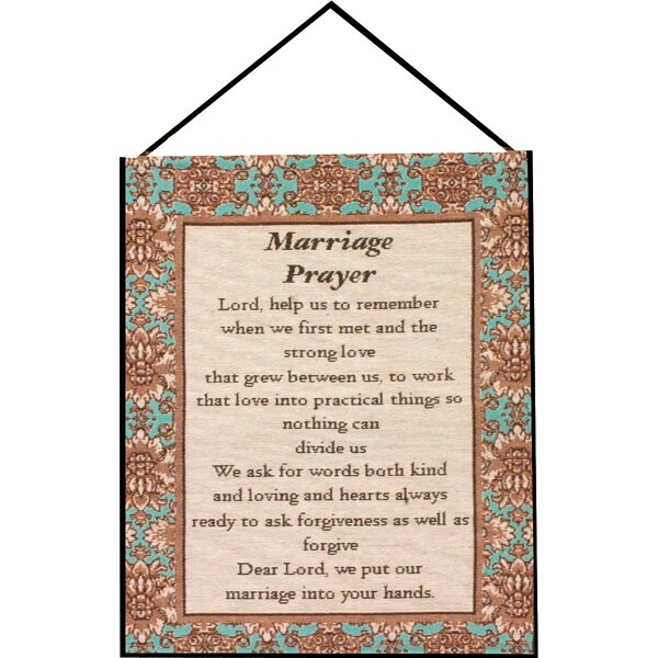 Marriage Prayer Tapestry and Wall Hanging by Manual Woodworkers & Weavers