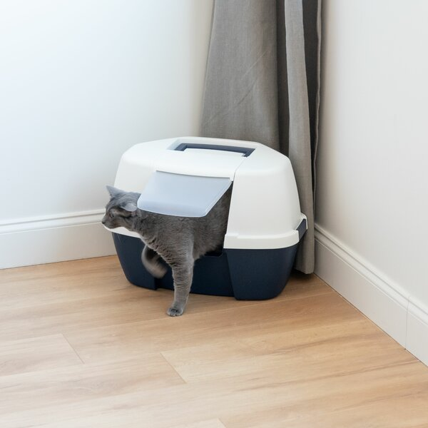 Hooded Corner Litter Box by IRIS USA, Inc.