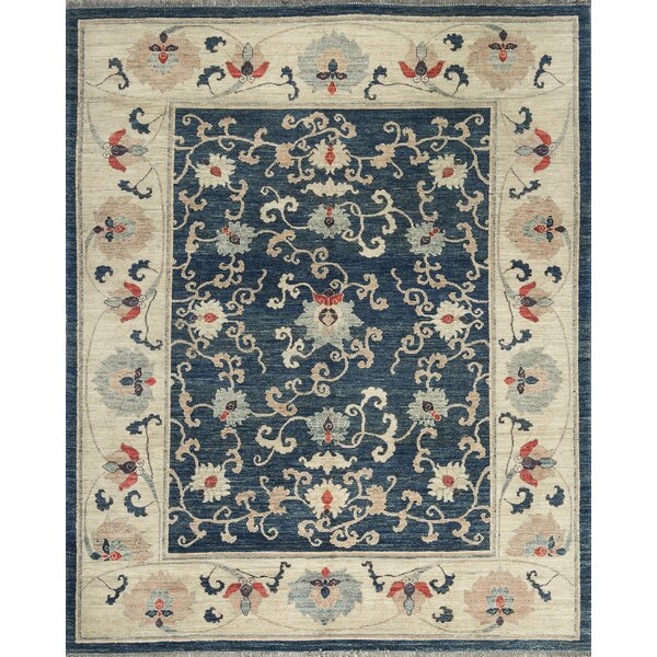 One-of-a-Kind Hand-Knotted Wool Navy Area Rug by Bokara Rug Co., Inc.
