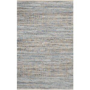 Exceptional Gilchrist Natural/Blue Area Rug