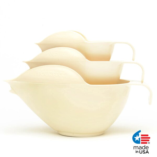 3 Piece Mixing Bowl Set by POURfect
