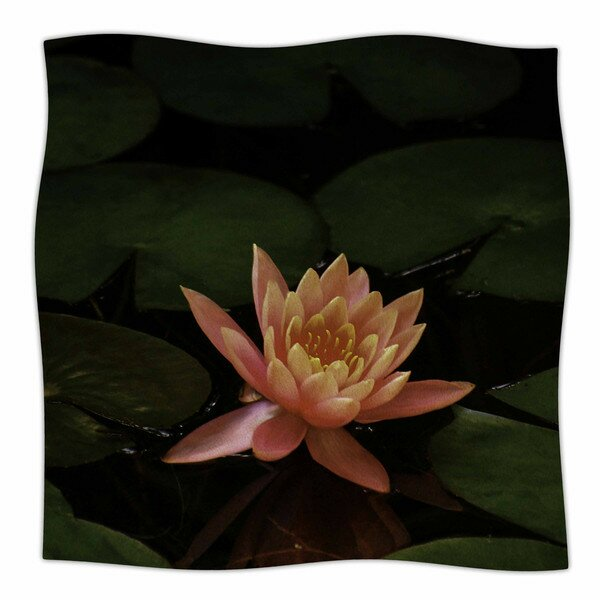 Lily Pad Flower by Nick Nareshni Fleece Blanket by East Urban Home