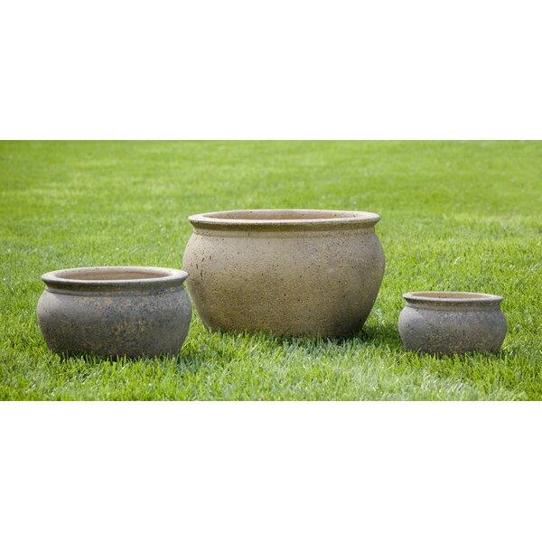 Lomme 3-Piece Terracotta Pot Planter Set by Red Barrel Studio