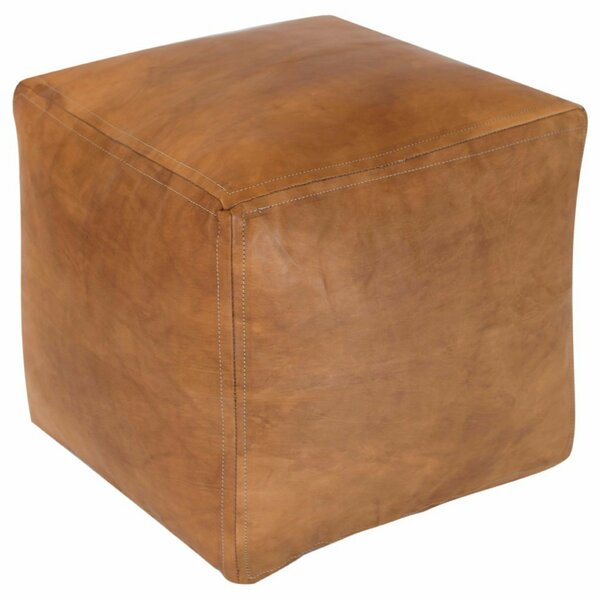 Desborough Moroccan Leather Pouf By Bungalow Rose
