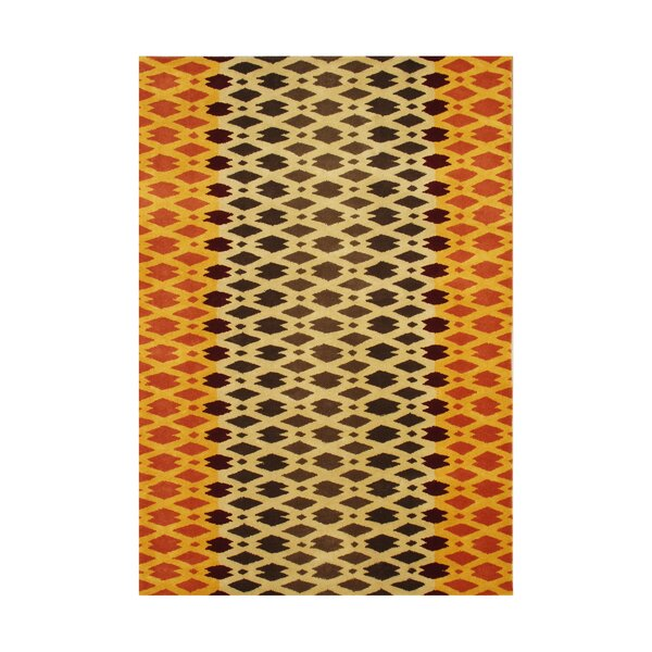 Winchester Hand-Tufted Orange/Black Area Rug by The Conestoga Trading Co.