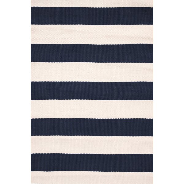 Catamaran Hand-Woven Blue/White Indoor/Outdoor Area Rug by Dash and Albert Rugs