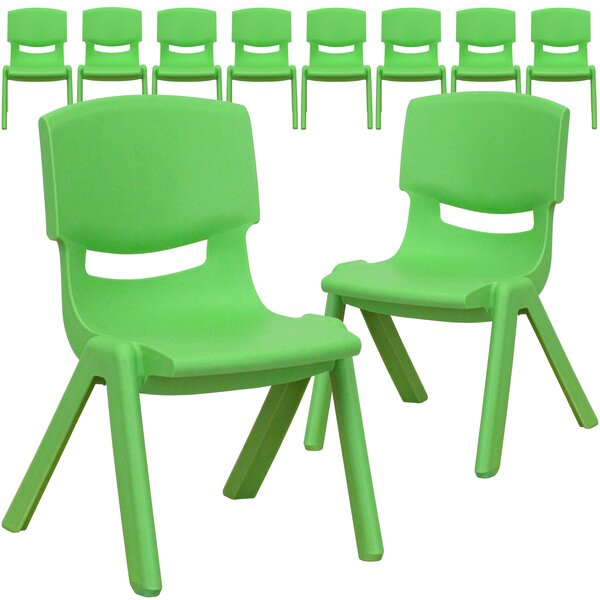 Stackable 10.75 Plastic Classroom Chair (Set of 10