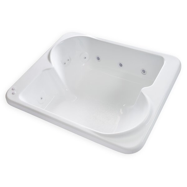 Hygienic Aqua Massage 72 x 60 Whirlpool Bathtub by Carver Tubs