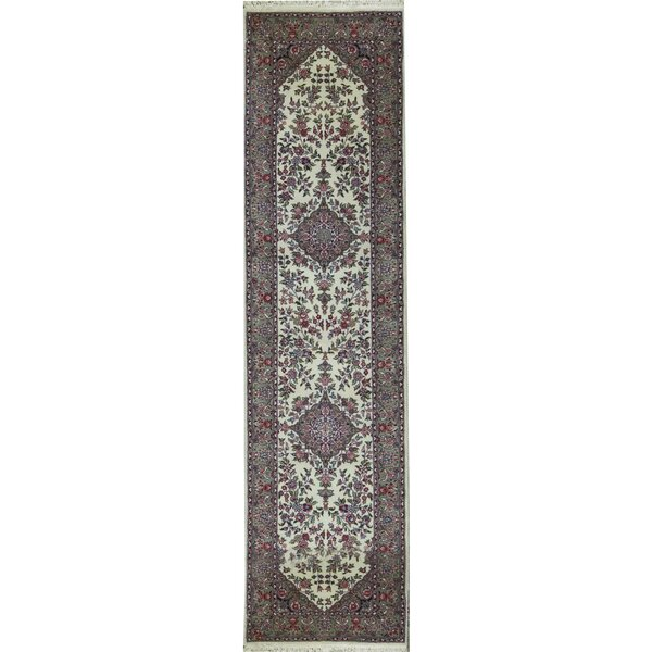 Hand Knotted Wool Ivory Rug