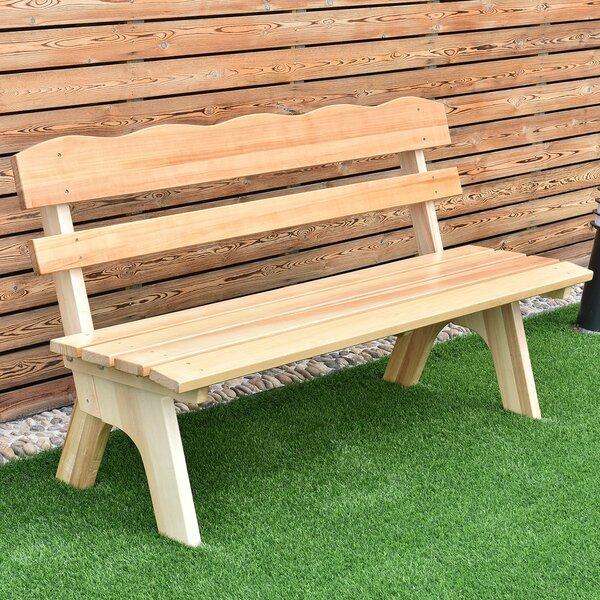 Johan Wooden Garden Bench by Millwood Pines