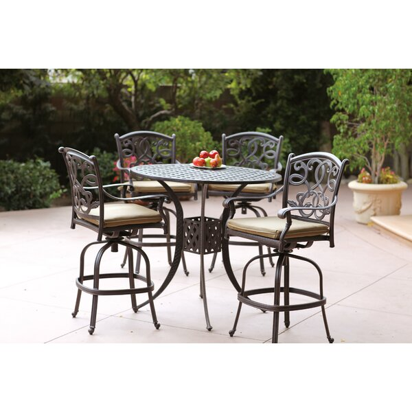 Calhoun 5 Piece Bar Height Dining Set with Cushions by Fleur De Lis Living