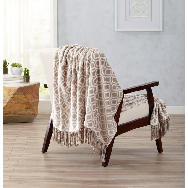 Berwyn Ultra Velvet Plush Throw Blanket with Decorative Fringe by Langley Street
