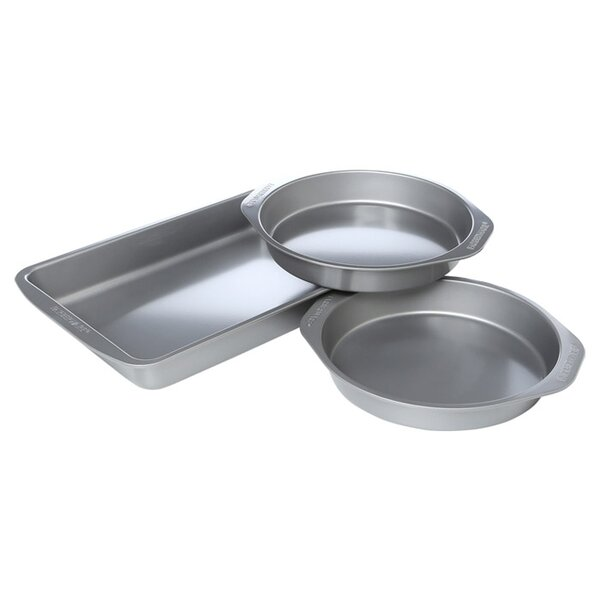 3-Piece Non-Stick Cake Pan Set by Farberware