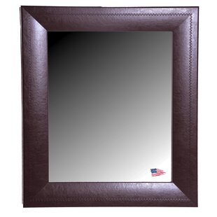 Darby Home Co Dark Brown Leather Wall Mirror