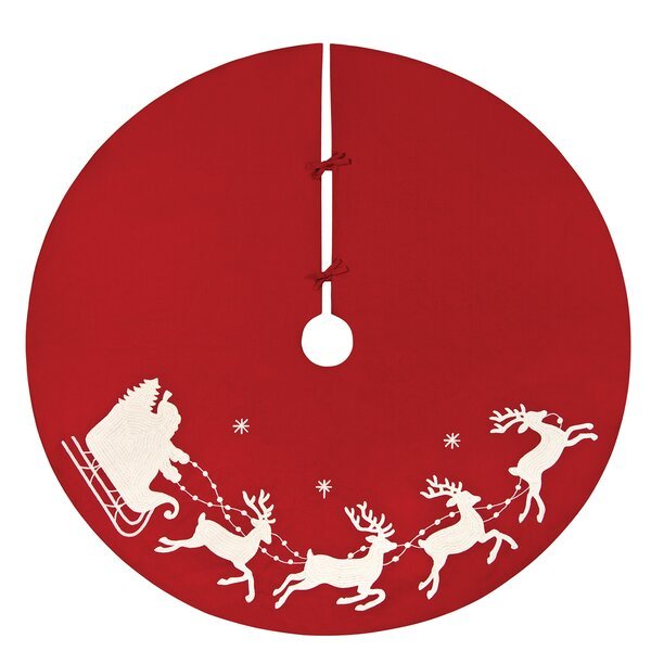 Santa Sleigh Christmas Tree Skirt by Andover Mills