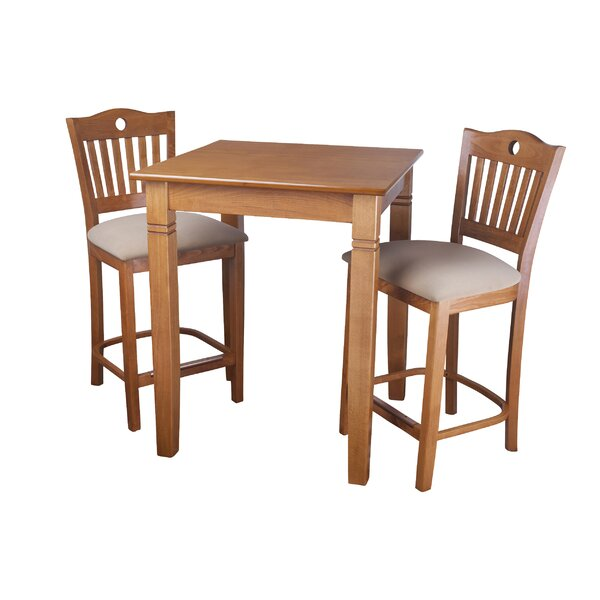 Eakes 3 Piece Pub Table Set by Darby Home Co