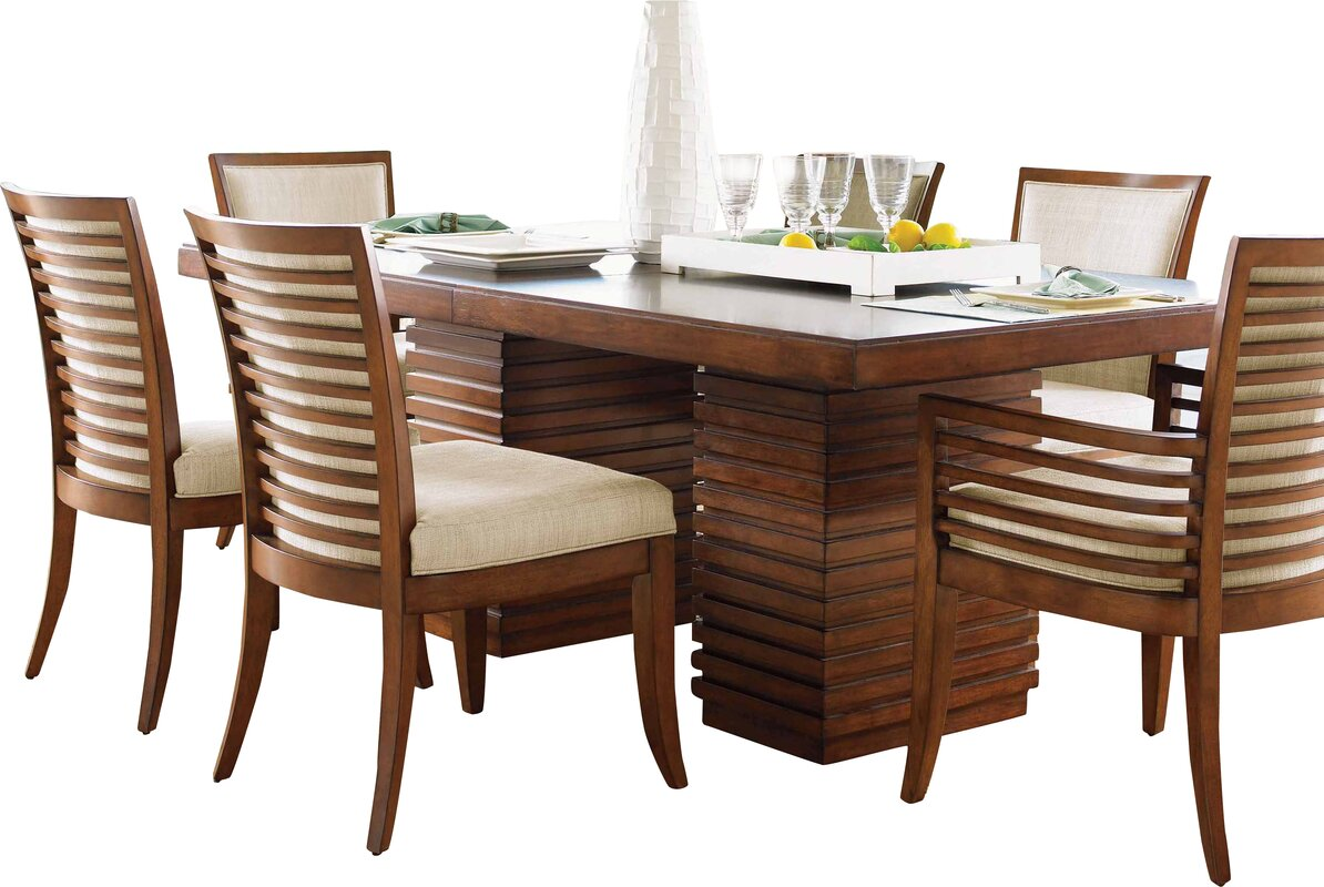 Ocean club peninsula dining table reviews birch lane for Dining room tables next