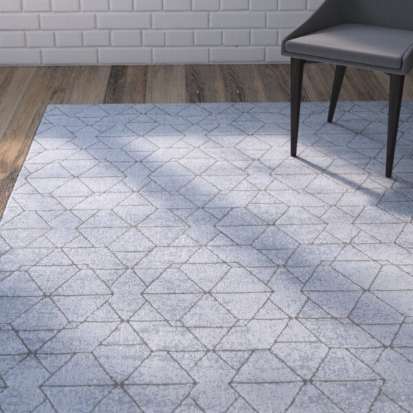 Mcdowell Blue Area Rug by Wrought Studio