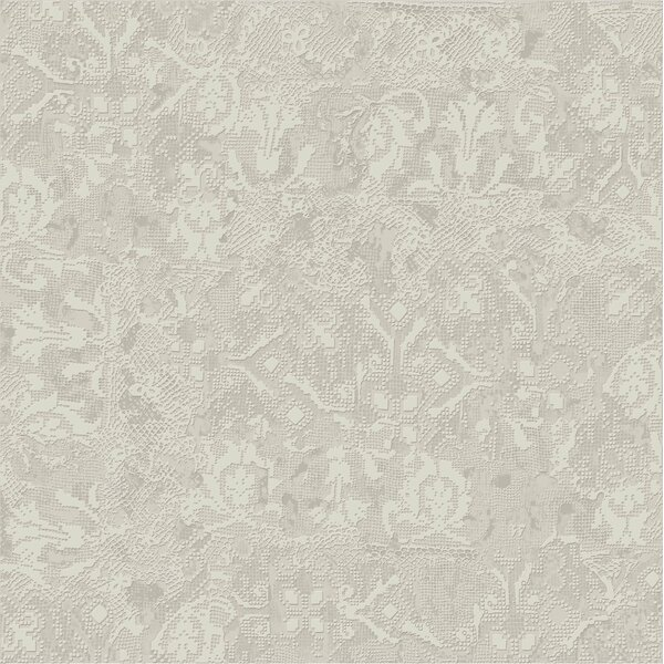 Tapis Gris Clair 23.5 x 23.5 Porcelain Fabric Look Tile in Light Gray by The Bella Collection