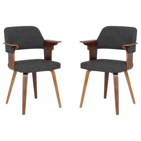 Sayler Upholstered Dining Chair - set of 2 (Set of 2) by Wrought Studio