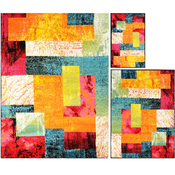 Carrasco Patchwork 3 Piece Rug Set by Latitude Run