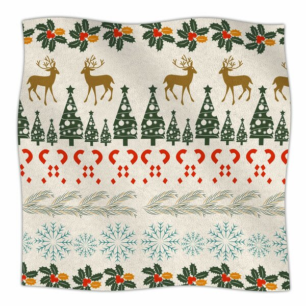 Christmas Vibes by Famenxt Fleece Blanket by East Urban Home