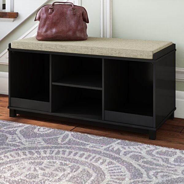 Krausgrill Four Cubby Upholstered Storage Bench