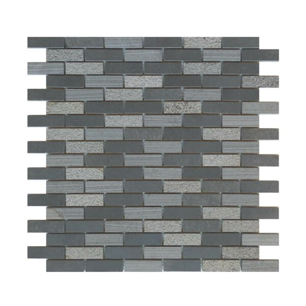 0.63 x 2 Natural Stone Mosaic Tile in Black by QDI Surfaces