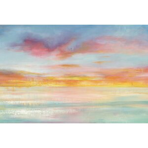 Pastel Sky Painting Print on Wrapped Canvas by East Urban Home