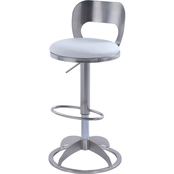 Boz Adjustable Height Swivel Bar Stool by Orren Ellis