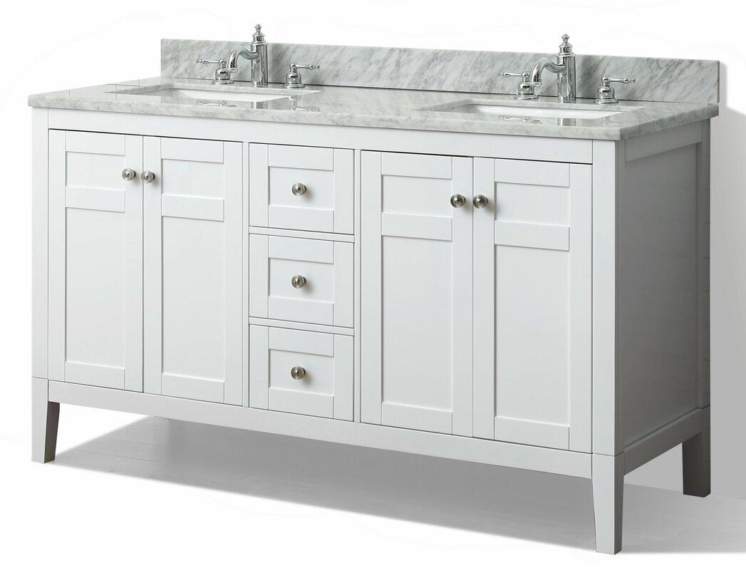 Ancerre Designs Maili 60 Quot Double Bathroom Vanity Set