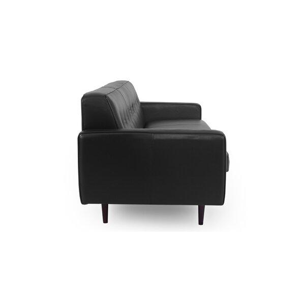 Mickey Mid-Century Leather Sofa by Corrigan Studio