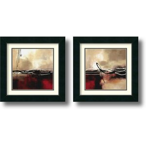 'Symphony' by Laurie Maitland 2 Piece Framed Painting Print Set by Amanti Art