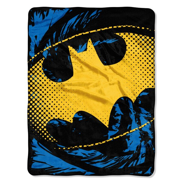 Batman - Ripped Shield Polyester Throw by Northwest Co.