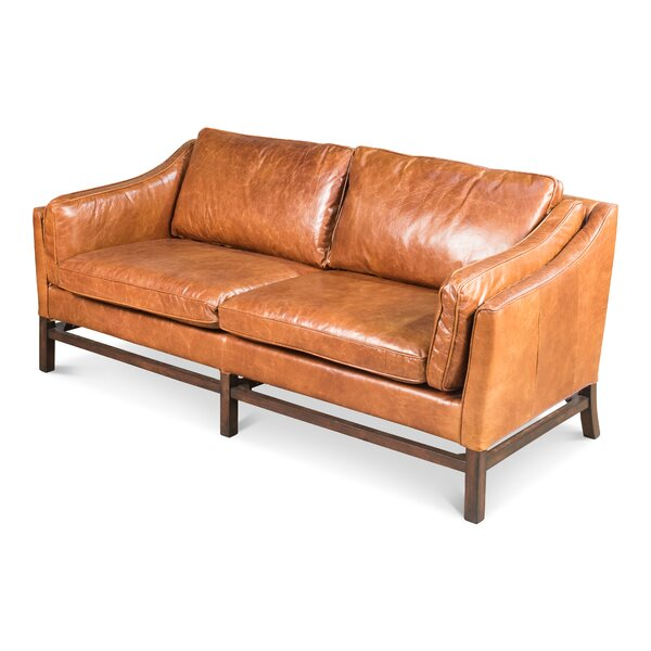 Ayla Leather Sofa by 17 Stories