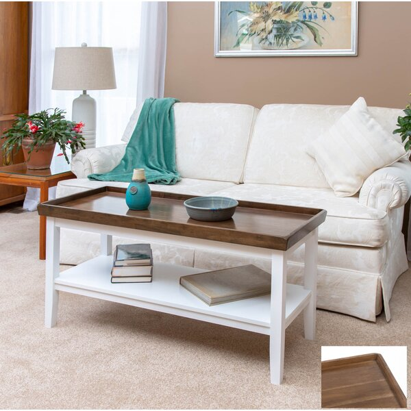 Gwen Solid Wood Coffee Table with Storage by Andover Mills Andover Mills