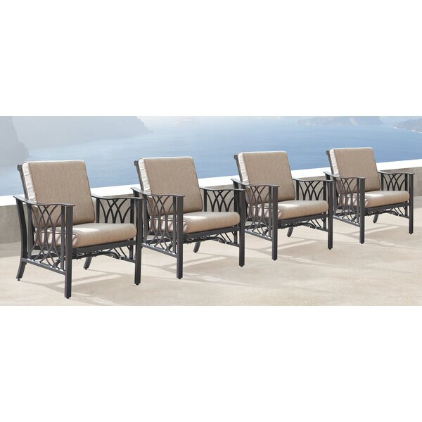 Mccleery Patio Chair with Cushions (Set of 4) by Canora Grey
