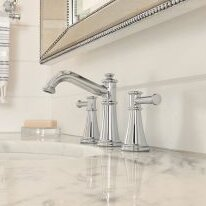 Belfield Widespread Bathroom Faucet with Drain Assembly by Moen