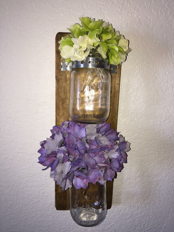 Wood and Glass Double Wall Vase