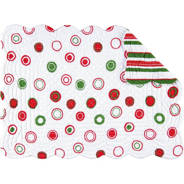 Reversible Christmas Bubbles Quilted Placemat (Set of 6) by C&F Home