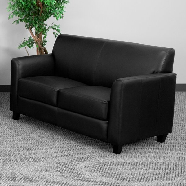 #1 Letcher Diplomat Series Leather Loveseat By Red Barrel Studio Comparison