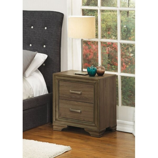 Mangeis 2 Drawer Nightstand by Red Barrel Studio