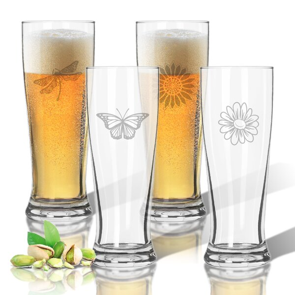 Tritan 14 oz. Pilsner Glass Set (Set of 4) by Carved Solutions