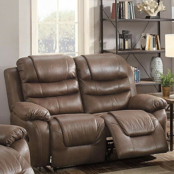 #1 Royster Breathable Reclining Loveseat By Charlton Home Great Reviews