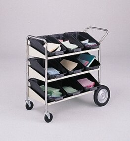 3 Shelf Mobile Bin File Cart by Charnstrom