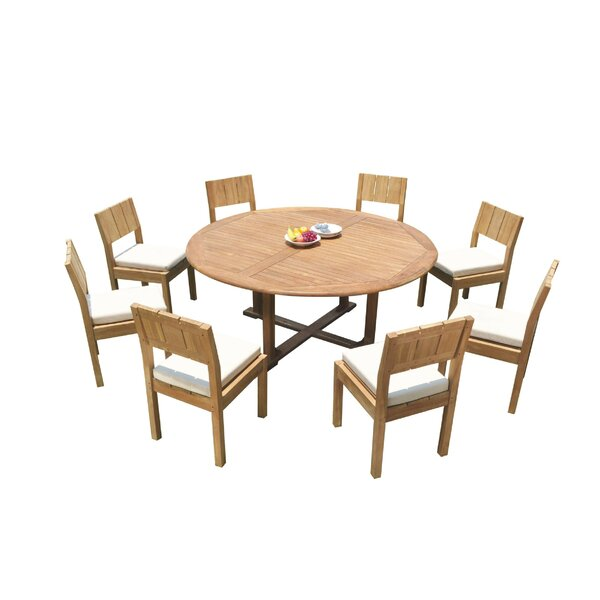 Juanita 9 Piece Teak Dining Set by Rosecliff Heights