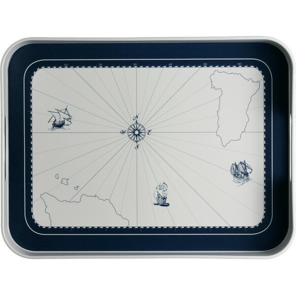 Columbus Melamine Nautical Serving Platter by MB Coastal Designs